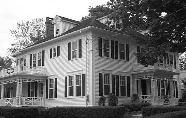 The colonial revival house, built in 1912, was moved from Farmington Avenue and Dale Street to 75 Brace Road in the 1930s to make room for commercial development. It was sold in 1970 by Butler Realty and is now a commercial property. Source: Town of West Hartford, CT Vision Government Solutions, parcel photos.