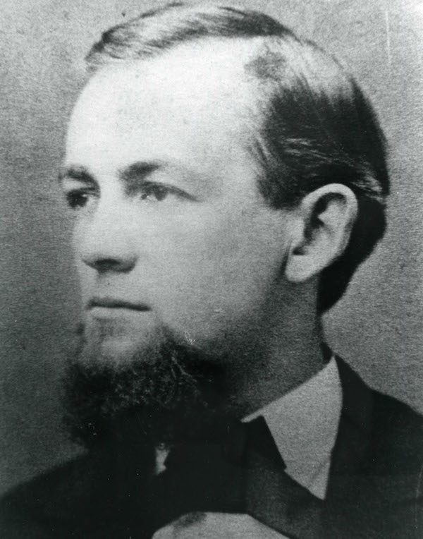 William H. Hall (1845-1934), In 1872, at age 27, Hall was hired as principal of the old West Hartford High School, as shown in this 1875 photo. As the town's first historian, he wrote a history of West Hartford, and published it in 1930, when he was 83 years old. At this age he was still involved in the schools, teaching local history for an hour per week to 5th and 6th graders at larger elementary schools in town. Source: Noah Webster House & West Hartford Historical Society.
